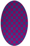 rug #220560 | oval check rug