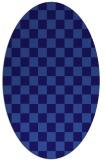 rug #220561 | oval blue-violet check rug