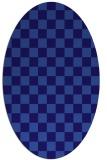 rug #220562   oval check rug