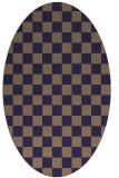rug #220565 | oval beige check rug