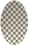 rug #220597 | oval white retro rug
