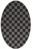 rug #220608 | oval check rug