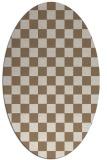 rug #220609 | oval beige graphic rug