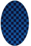 rug #220625   oval blue check rug