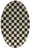 rug #220634 | oval check rug