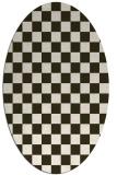 rug #220636   oval check rug