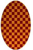 rug #220647   oval check rug