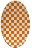 rug #220649 | oval orange check rug