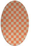 rug #220653 | oval beige check rug