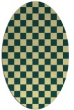 rug #220661 | oval yellow check rug