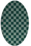 rug #220663 | oval check rug