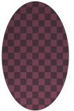 rug #220681 | oval purple check rug