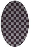 rug #220693 | oval purple check rug