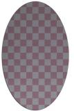 rug #220695   oval check rug
