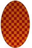 rug #220701 | oval red check rug