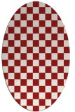rug #220705 | oval red check rug
