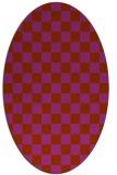 rug #220712 | oval check rug