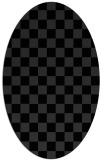 rug #220731   oval check rug
