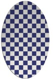 rug #220737 | oval blue check rug