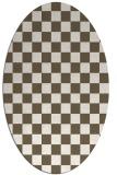 rug #220751 | oval check rug