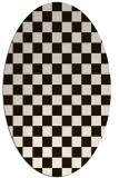 rug #220754 | oval check rug