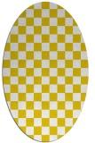 rug #220757 | oval yellow check rug