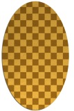 rug #220761 | oval yellow check rug
