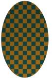 rug #220764   oval check rug