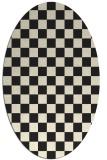 rug #220765 | oval black retro rug