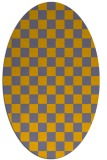 rug #220772 | oval check rug