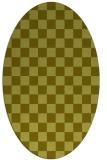 rug #220777 | oval light-green check rug