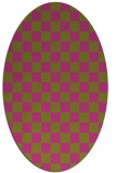 rug #220785 | oval light-green check rug