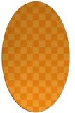 rug #220801 | oval light-orange check rug