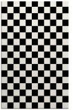 rug #220813 |  white check rug