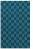 rug #220857    blue-green check rug