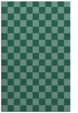 rug #220865    blue-green check rug