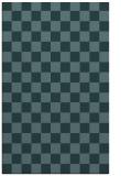 rug #220881    blue-green check rug