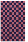rug #220901 |  blue-violet check rug