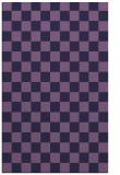 rug #220905 |  blue-violet check rug