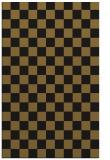 rug #220925 |  black check rug