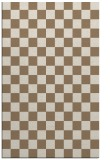 rug #220961 |  mid-brown check rug