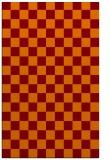 rug #220997    red-orange check rug