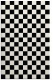 rug #221081 |  black check rug