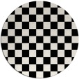 rug #221165 | round white check rug