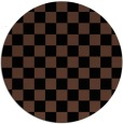 rug #221177 | round brown check rug