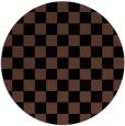 rug #221177 | round brown check rug
