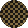 rug #221181 | round brown check rug
