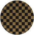 rug #221181 | round mid-brown retro rug