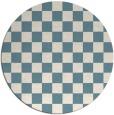 rug #221186   round check rug