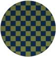 rug #221197 | round blue check rug